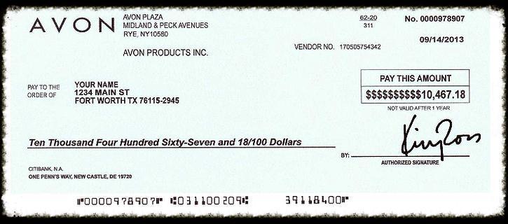 $10,000 check