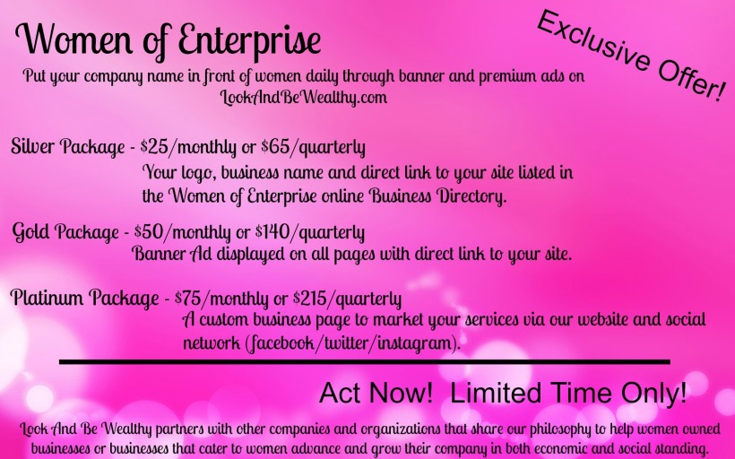 Advertise with us - Women of enteprise, online advertising