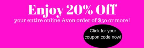 avon, coupon code